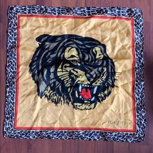 Betsey Johnson silk scarf tiger